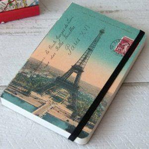 Eiffel Tower Paris sunset notebook